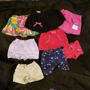 Girls 18 month shorts and skirts